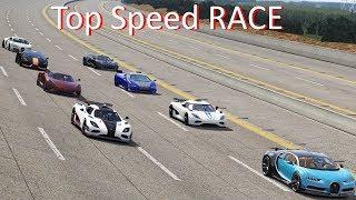 Download Bugatti Veyron SS, Chiron, Koenigsegg Regera, One:1, Agera, Hennessey Venom Top Speed Race /Assetto Video