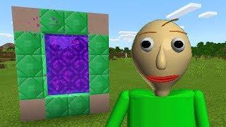 Download How To Make a PORTAL to the BALDI'S BASICS Dimension in Minecraft PE (Baldis Basics Portal in MCPE) Video