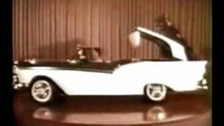 Download 1957 Extremely Rare Ford Color Ad: The Fairlane Retractable Video