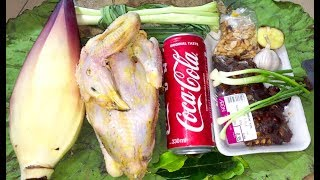 Download Roasted Chicken with CoCaCola and Banana Flower - Asian Food Recipes, Cambodia Food Cooking Video
