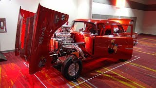 Download 1957 Chevrolet Gasser named Cherry Bomb at SEMA 2018 Video