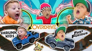 Download Fast & Furious Car Chase! Magic Boy Traps Kids in ANKI OVERDRIVE RACE TRACK BATTLE FGTeeV CHALLENGE! Video