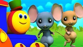 Download Bob el tren | Tres ratones ciegos | canciones para niños | canciones infantiles | Three Blind Mice Video