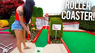 Download I'VE NEVER SEEN A MINI GOLF COURSE LIKE THIS! - INSANE HOLES AND CRAZY SHOTS! Video