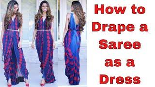 Download How to Drape a Saree as a Dress | Tia Bhuva Video