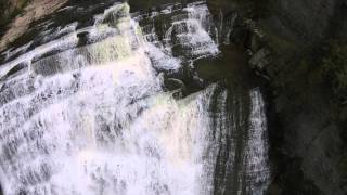 Download Ithaca Falls Drone's-eye view Video