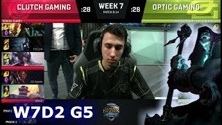 Download Clutch Gaming vs OpTic Gaming | Week 7 Day 2 S8 NA LCS Summer 2018 | CG vs OPT W7D2 Video
