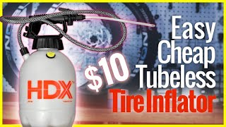 Download Cool Tubeless Tire Inflator hack for mountain bikes! Video
