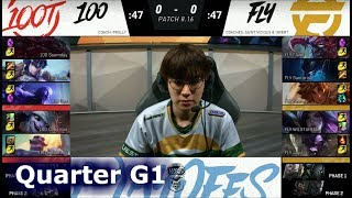 Download 100 Thieves vs FlyQuest | Game 1 Quarter Finals S8 NA LCS Summer 2018 | 100 vs FLY G1 Video