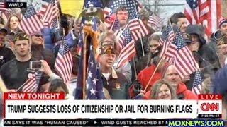 Download Donald Trump Wants To Revoke The Citizenship Of Americans Caught Burning The U.S. Flag! Video
