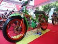 Download Modifikasi Honda C70 Kontes Mesin Satria FU Racing Look Full Airbrush Video
