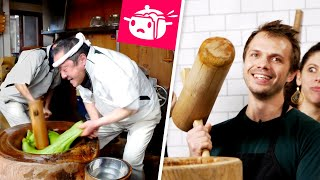 Download We Tried To Make Mochi With Giant Hammers • Eating Your Feed • Tasty Video