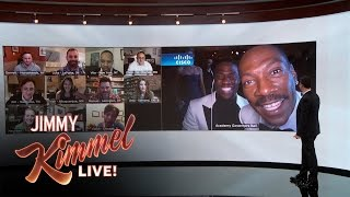 Download Jimmy Kimmel Debuts Wall of America with Kevin Hart & Eddie Murphy Video