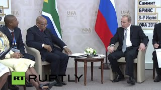 Download LIVE: Putin meets South African president Jacob Zuma Video
