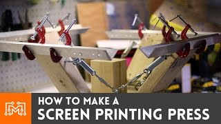 Download How to make a 4 color screen printing press Video