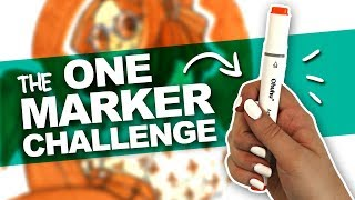 Download ILLUSTRATION USING ONLY ONE MARKER?! | Ohuhu Marker | Art Challenge Video