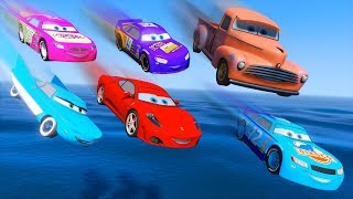 Download Cars Party Smokey Ferrari Flo Cal Weather Bobby Swift Kevin Racingtire McQueen and Friends for Kids Video