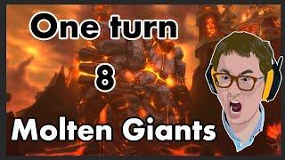 Download Hearthstone - 8 Molten Giants 1 turn! Video