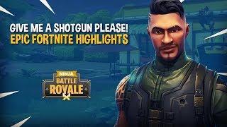 Download Give Me A Shotgun PLEASE!! - EPIC Fortnite Battle Royale Highlights - Ninja Video