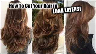 Download HOW I CUT MY HAIR AT HOME IN LONG LAYERS! │ Long Layered Haircut DIY at Home! │Updated! Video