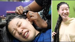 Download My Korean Fiancée Gets Cornrows For The First Time | SLICE n RICE 🍕🍚 Video