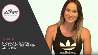 Download Quick Ab-Toning Workout Finisher. 6 Mins Video