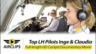 Download MUST SEE! TWO COOL LADIES piloting HEAVY MD-11F ULTIMATE COCKPIT MOVIE [AirClips full flight series] Video