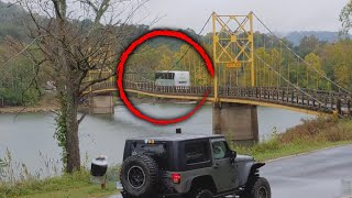 Download Arkansas Bridge Bends Under the Weight of Bus Crossing Over It Video