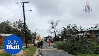 Download Cyclone Trevor causes wild weather and devastation in Queensland Video