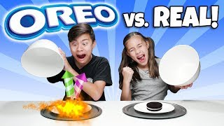 Download OREO VS REAL FOOD CHALLENGE - Switch Up!!! 14 Flavors of Cookies or Real? Video