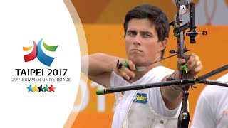 Download Kim Woojin 김우진 v Arpad Banda – recurve men's bronze final |Taipei 2017 Universiade Video