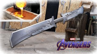 Download Making THANOS NEW Sword From Avengers: Endgame REVEALED? (Aluminum Casting) Video