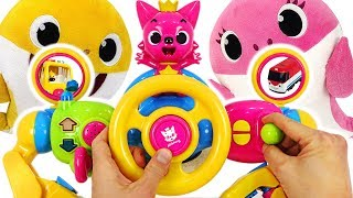 Download Pinkfong Baby Shark Driving play! Baby sharks drive the Pinkfong Melody Bus~! #PinkyPopTOY Video