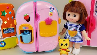 Download Baby Doll Refrigerator toys & Pororo Food toys Video