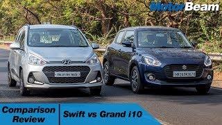 Download Maruti Swift vs Hyundai Grand i10 - Shootout | MotorBeam Video
