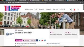 Download Leiden University Scholarships in Netherlands 2019 Video