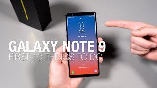 Download Galaxy Note 9: First 10 Things to Do! Video