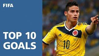 Download TOP 10 GOALS: 2014 FIFA World Cup Brazil™ Video