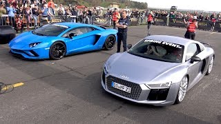 Download Audi R8 V10 Plus vs Lamborghini Aventador S Video