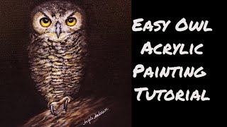 Download Spooky Owl Acrylic Painting LIVE Tutorial Video