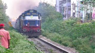 Download Twin WDM3A Vs WDP4 on Fastest Line Inside Bangalore City Video