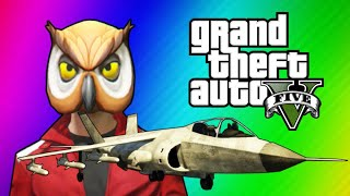 Download GTA 5 Online Funny Moments - Hydra Jet Fun, Delirious's Battle Gear, Owl Tree! Video