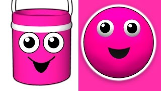 Download ″The Paint is Pink″ | 3D Kids Nursery Song, Teach Babies Colors, Toddler Colour Learning Video