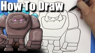 How To Draw A Cute Cartoon Minecraft Steve With Diamond Armour