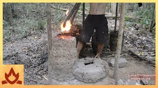 Download Primitive Technology: Simplified blower and furnace experiments Video