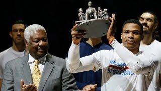 Download Oscar Robertson REACTS to Russell Westbrook Breaking His Triple-Double Record at Ceremony Video