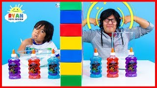 Download Twin Telepathy Slime Challenge Ryan vs. Daddy! Video