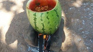 Download Cooking Watermelon Chicken in My Village - Spicy Sweet Taste Video