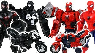 Download Marvel Spider Man, Black Spider Man Transformers! Protect Cars 3 from crocodile, spider - DuDuPopTOY Video