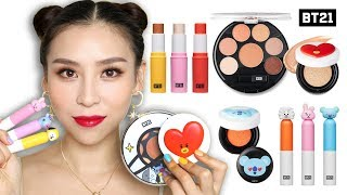 Download Trying BTS Makeup (BT21 X VT Cosmetics) 👍 or 👎 Video
